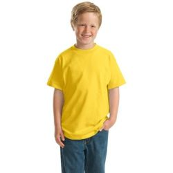 Hanes ®   -  Youth Beefy-T ®  Born to Be Worn 100% Cotton T-Shirt.  5380