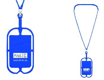 228 SILICONE LANYARD WITH PHONE HOLDER & WALLET