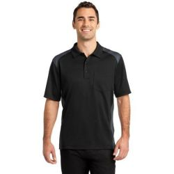 CornerStone ®  Select Snag-Proof Two Way Colorblock Pocket Polo. CS416