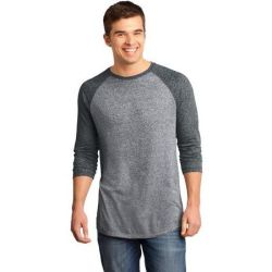 District ®  - Young Mens Microburn™ 3/4-Sleeve Raglan Tee. DT162
