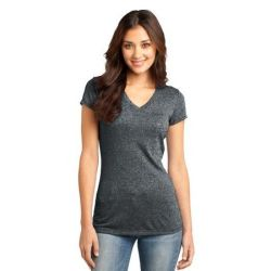 District ®  - Juniors Microburn™ V-Neck Cap Sleeve Tee. DT261