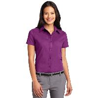 Ladies' Manager Oxford-Short Sleeve