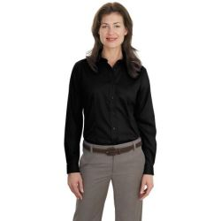Port Authority - Ladies Long Sleeve Non-Iron Twill Shirt.  L638
