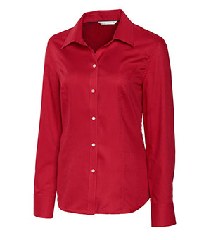 Cutter & Buck Ladies' L/S Epic Easy Care Nailshead - LCW04124