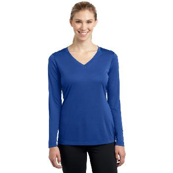03 - Sport-Tek ®  Ladies Long Sleeve PosiCharge ®  Competitor™ V-Neck Tee. LST353LS