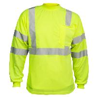 Class 3 Safety Green Long Sleeve T-Shirt. MAX450.