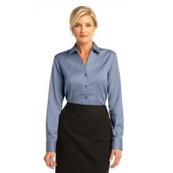 Red House ®  - Ladies French Cuff Non-Iron Pinpoint Oxford. RH63